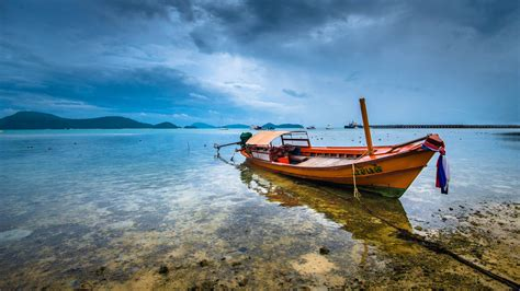 boat browser full screen boat landscape thailand sea wallpapers hd desktop and