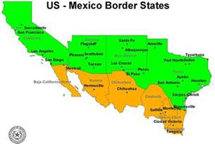 map of us and mexico us mexico border map institute for defence studies and
