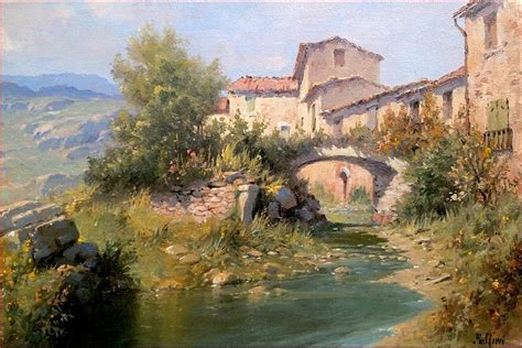 Paint By Numbers Wall Mural country village tuscany italy painting by claudio pallini