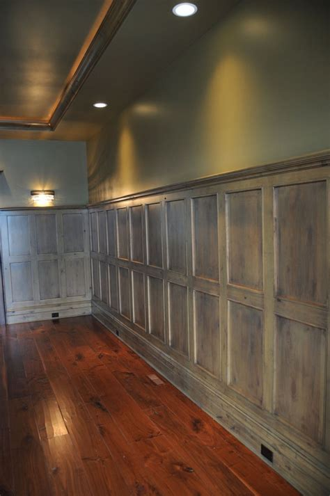 Wood Wainscoting Panels by Wood Wall Paneling This Would Look So With Concrete