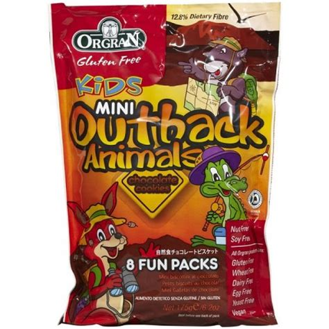 Orgran Mini Outback Animals Cookies orgran mini outback animals chocolate cookies 8 small