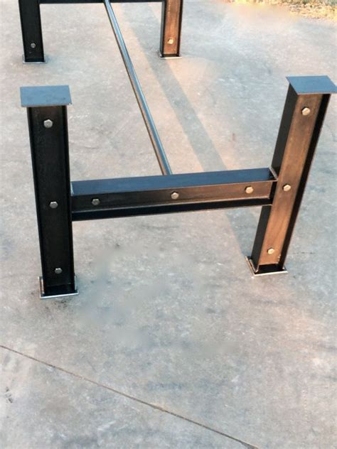 table bases iron steel wood industrial i beam steel metal table base iron dining