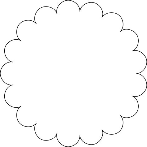 scalloped edge template scallop circle template png clipart best