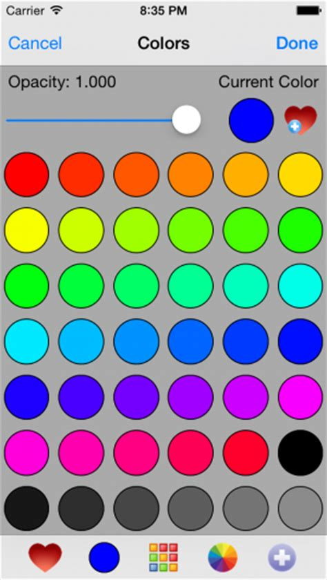 color wheel picker ios is there a color picker library code for iphone