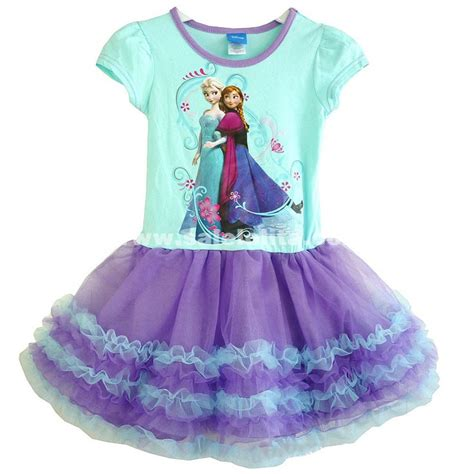 Print Dress Frozen children s disney frozen elsa print sleeve princess