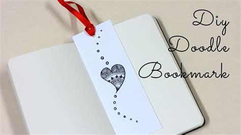 mini doodle bookmark diy doodle bookmark