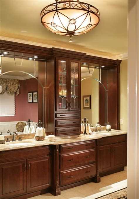 bathroom vanity cabinets and lighting traditional