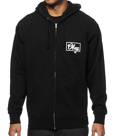 Hoodiezipper Obey obey club script zip up hoodie at zumiez pdp