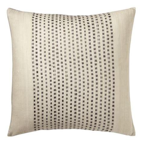 west elm pillows embroidered dot silk pillow cover slate west elm