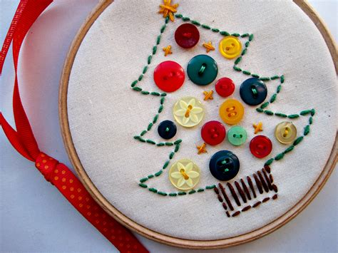 sewing christmas crafts craft sew a button tree julie co