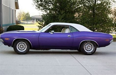 1970 challenger plum 1970 challenger grabs attention with purple paint and six