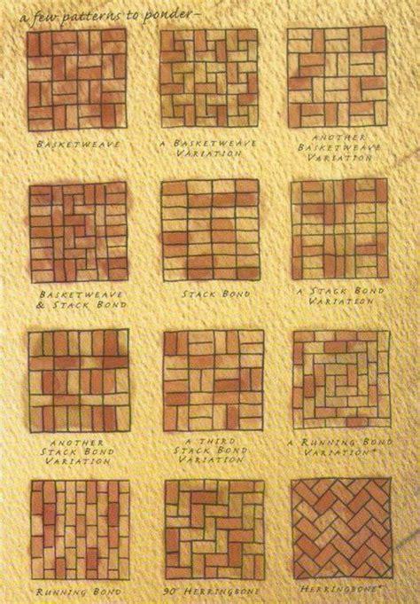 brick pattern pinterest different brick patterns garden outside pinterest