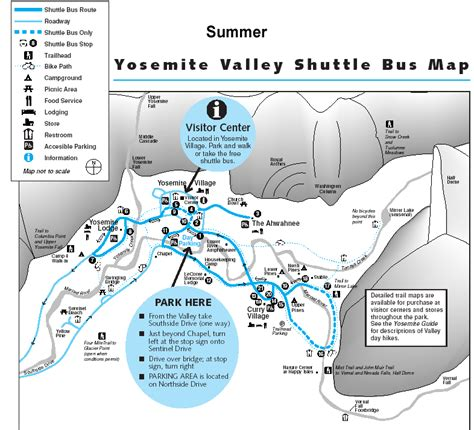 yosemite valley map yosemite valley maps