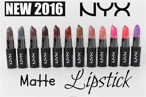 Lipstik Matte Me Nyx swatches new 2016 nyx matte lipsticks all 12 shades