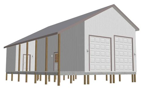 barn workshop plans free pole barn garage plans
