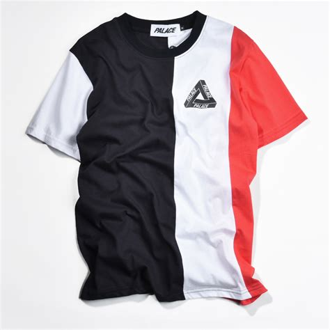 palace t shirt hip hop fashion skateboard vertical tri stripe palace tide 1 1 high quality