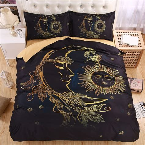 moon and stars bedding set lightweight boho sun moon and stars 3d bedding set duvet