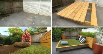 Outdoor Daybed Design Plans Diy Garden Guru Makes Outdoor Grass Daybed Out Of Wood