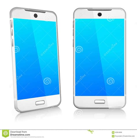 3d mobile phones phone cell smart mobile 3d and 2d stock vector image