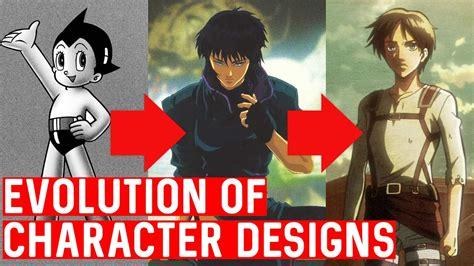 anime design the evolution of anime character designs