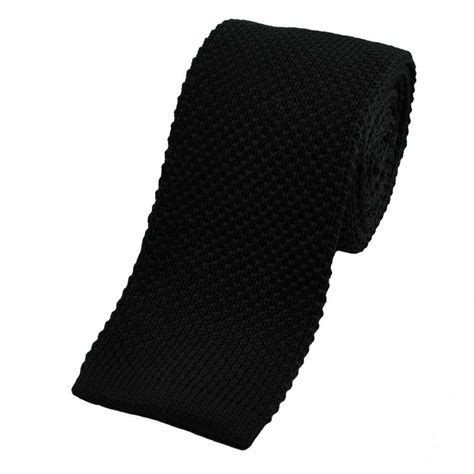 black knit tie plain black knitted tie from ties planet uk