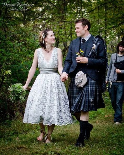 Wedding Kilt by This Montage Has Attitude Style And Major Rock Chic