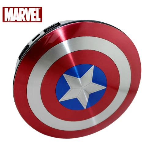 Promo Capitan Stainless Fitrimarts genuine marvel captain america shield 6800mah external battery pack power bank ebay