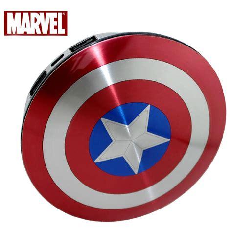 Power Bank Perisai Captain America 2 Port 6800mah Diskon genuine marvel captain america shield 6800mah external battery pack power bank ebay