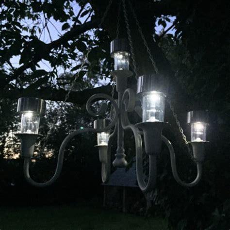solar chandelier solar powered garden chandelier