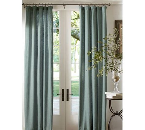 pottery barn linen curtains emery linen cotton drape