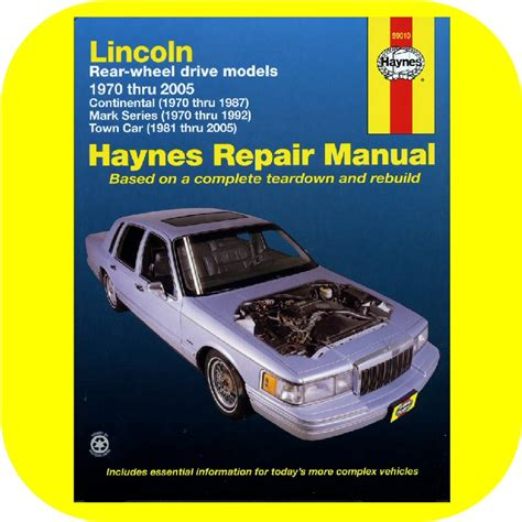 free online auto service manuals 1994 lincoln continental user handbook repair manual book lincoln continental town car mark v joetlc