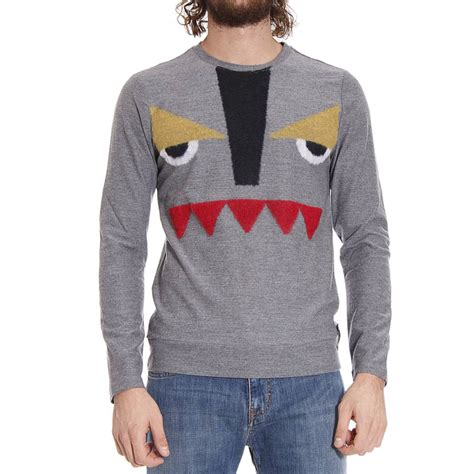 Sweater Fendi Fendi Sweater In Gray For Lyst