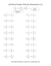 add and subtract unlike fractions worksheet abitlikethis