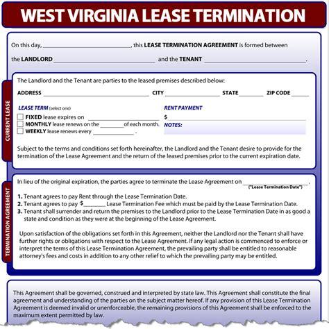 sle eviction notice west virginia west virginia lease termination