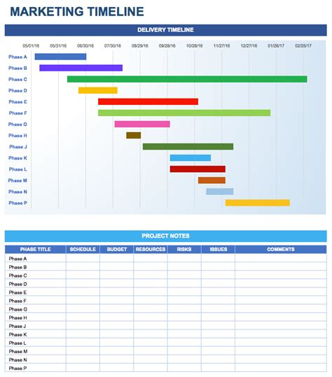 timeline template excel free marketing plan templates for excel smartsheet