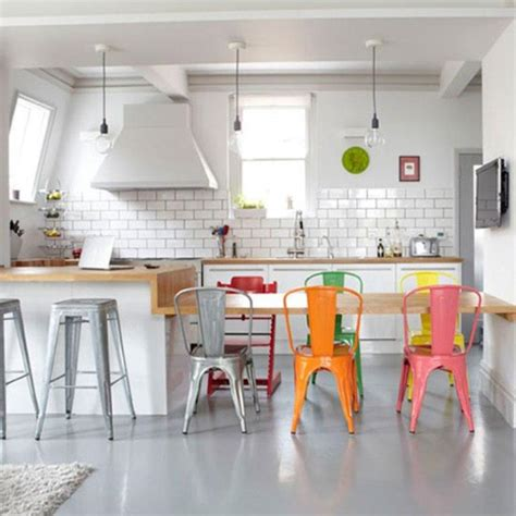 Furniture For The Kitchen 10 Lively Colorful Kitchen Chair Ideas Rilane