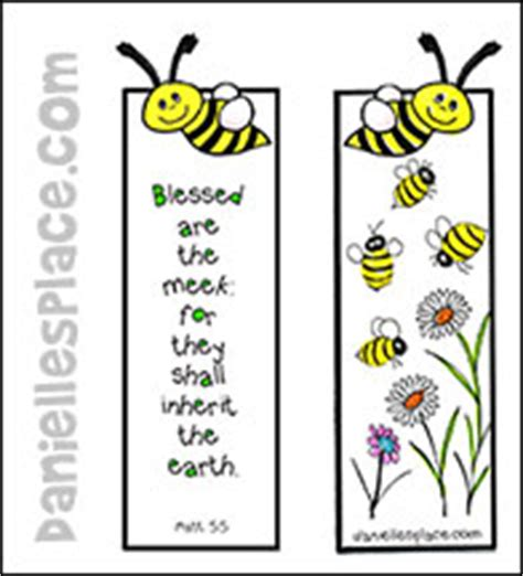 printable beatitudes bookmarks bee bible verse bookmark craft from www daniellesplace com