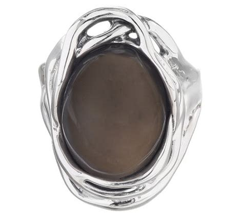 hagit sterling silver oval gray moonstone ring j340689