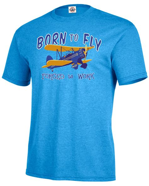 Tshirt Born To Fly born to fly s shirt cool stearman pilot shirt