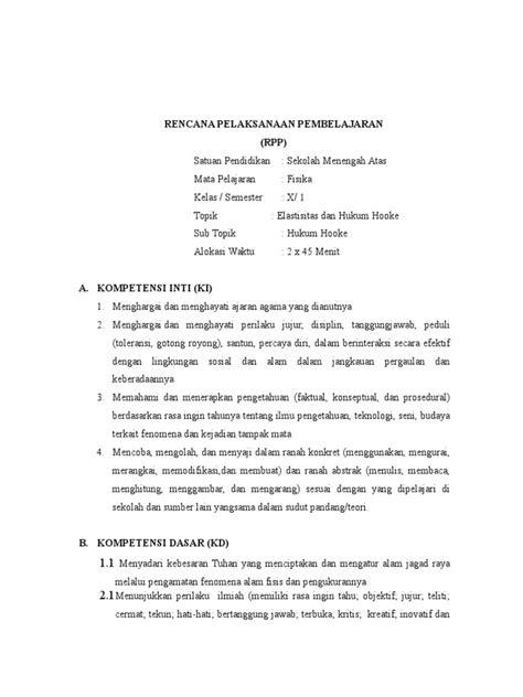 hukum membuat novel rpp elastisitas dan hukum hooke
