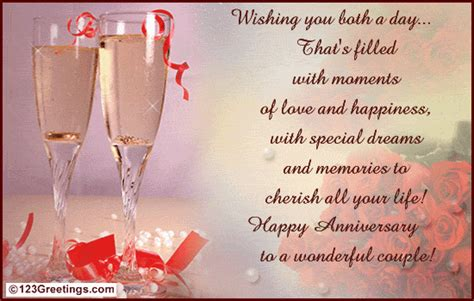 Wedding Anniversary Greeting Quotes For Friends by To A Wonderful Free Flowers Ecards Greeting Cards