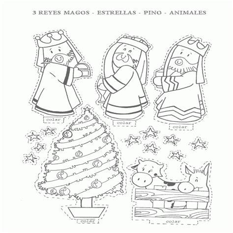 imagenes reyes magos para niños dibujo de colecci 195 n de recortables de navidad para