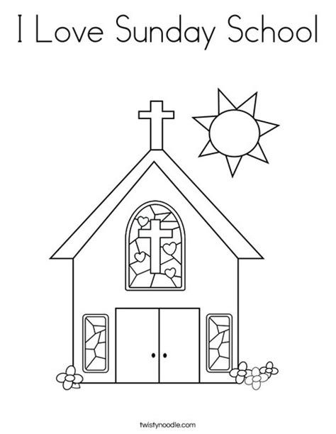 I Love Sunday School Coloring Page Twisty Noodle Sunday School Printable Coloring Pages