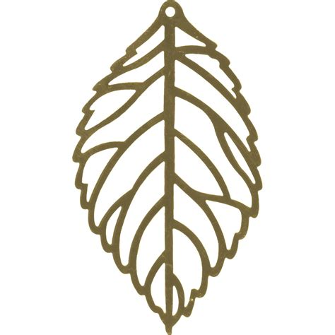 Pantone Color Of The Year List by Antiqued Brass Plated Filigree Leaf 65x37mm