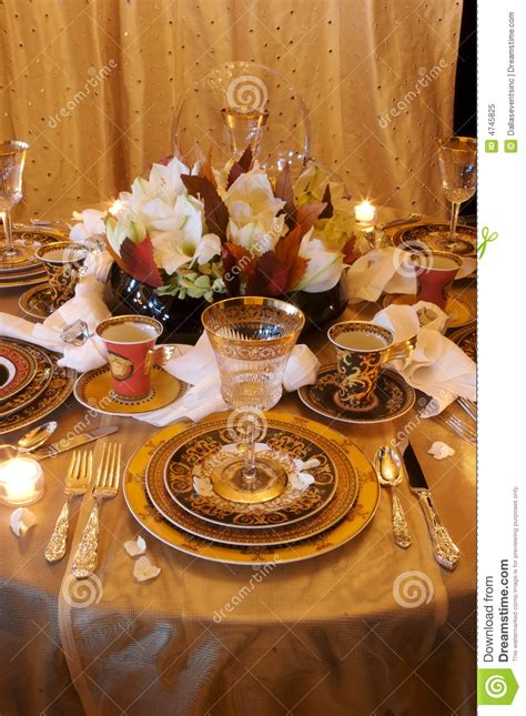 formal dining room place setting stock image image 4745825