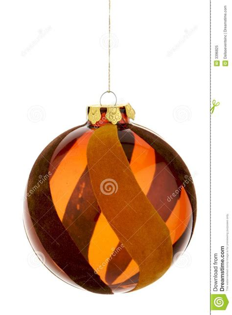 glass brown hanging christmas ornament royalty free stock