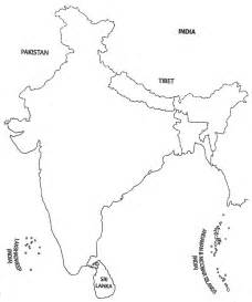 Blank Map Of India Physical by Aadithya S Maps