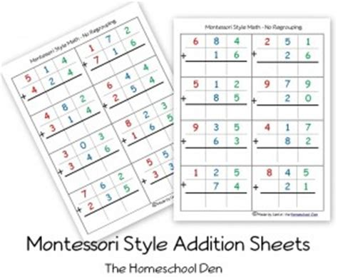 montessori printable st game montessori subtraction pages with borrowing homeschool den