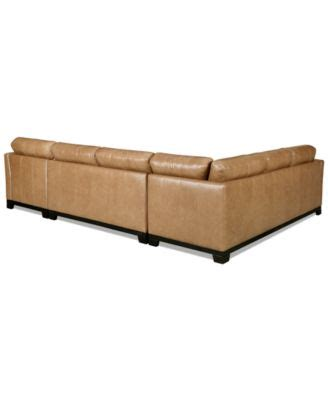 Martino Leather Sectional Sofa by Martino Leather 3 Chaise Sectional Sofa Furniture Macy S
