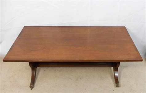 large mahogany pedestal coffee table - Large Mahogany Coffee Table